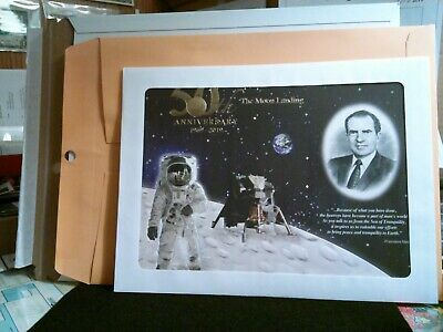 2019 -Apollo 11- 50th Anniversary Engraved Print-The Eagle Has Landed. US Mint.