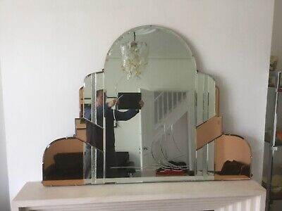 Art Deco Overmantel Mirror, absolutely fantastic. Stunning decorative piece.