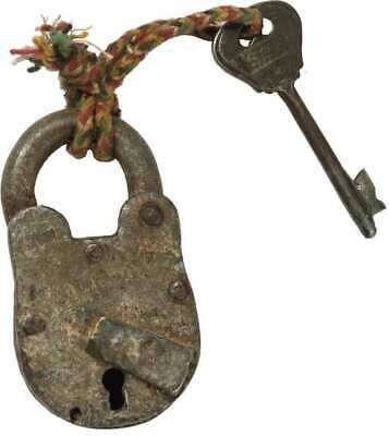 Primitive Vintage Looking Key and Lock Rustic Farmhouse/Barn Industrial