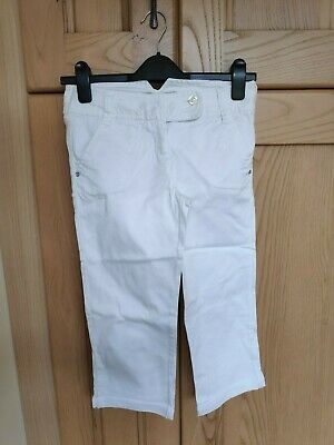 Next Cropped Girls Jeans - White - Size 11 Years - Great Condition