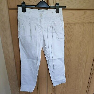 Next Girls Slim Long Trousers Age 11  White - Can Be Turned Up