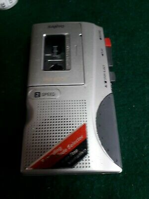 Sanyo Talk-Book TRC-580M 2-Speed Dictaphone Micro Cassette Tape Recorder Silver