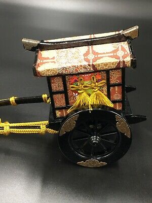 Hina Doll CARRIAGE Accessories Japanese Vtg Dollhouse Furniture.