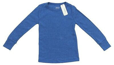 Gymboree Boys Clothes Multiple Sizes 4-12 Solid Blue Long Sleeve Kid Tee T-Shirt