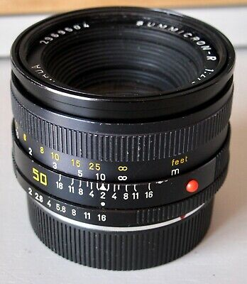 Leica 50mm f/2 Summicron-R Manual Focus Prime Lens 3-Cam fits R9 R8 R7 etc