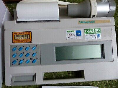 Vitalograph Model Alpha, excellent condition, some consumables supplied