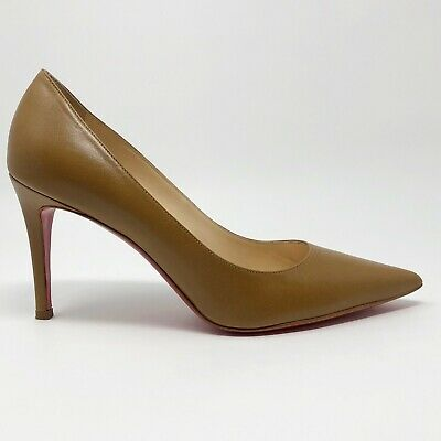 f48a290a02 Christian Louboutin Decollete 85mm Brown Leather Pumps Authentic Size 39 US  8.5