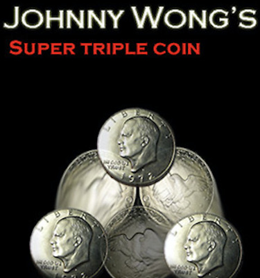 Super Triple Coin Eisenhower Dollar (with DVD) by Johnny Wong