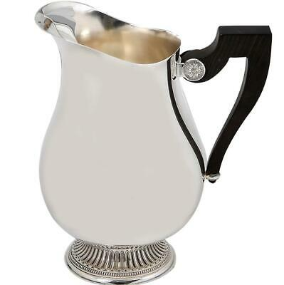 Christofle Paris France Malmaison Silver Plated Water Pitcher Ebony Wood Handle
