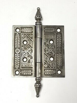 "A35 Antique Cast Iron Ornate Steeple Top Hinge (SINGLE) 4"" x 4"""