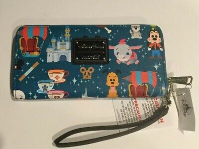 NWT Disney Parks Magic Kingdom Attractions Wallet by Loungefly