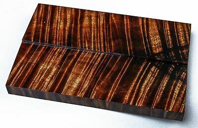 Stabilized Old Growth Curly Koa Knife Scales, Gun Grips  SCL8171