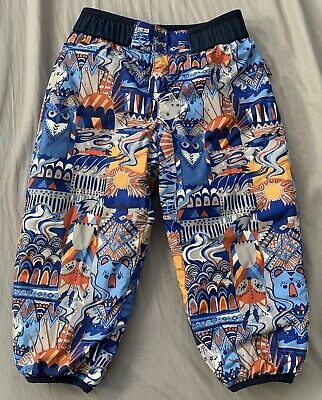 0aaeb2bd Patagonia Reversible Puff Ball Pants Toddler Boys 2T Blue Print EUC  Insulated