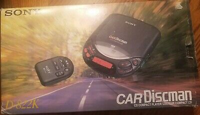 Sony Car Discman CD Player D-822K Hydro Suspension System Digital Signal Process