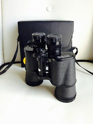 Vintage WETZLER Field Binoculars 7x50 with 4 Lens Covers & Case