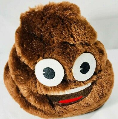 Emoji Poop Bank Plush 6.5""