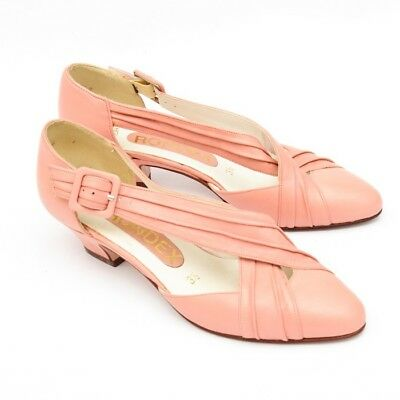 the latest 84c67 fbd77 VINTAGE PUMPS SCHUHE Damen rosa 50er 60er Jahre Rockabilly retro Leder Gr.  36