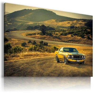 FORD MUSTANG RED Super Sport Cars Large Wall Canvas Picture ART  AU603  MATAGA .