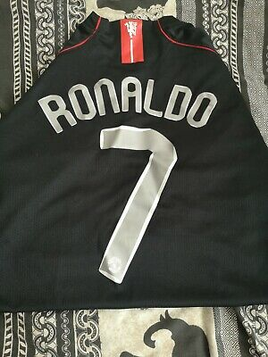 Retro Manchester United 2008 Champions League Football Shirt Man Utd RONALDO XL