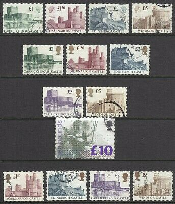 1988 + 1992 And 1997 Castle High Value Sets + 1993 £10 Britannia Sg1658 Used