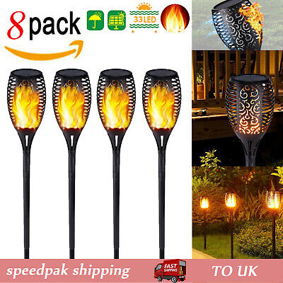 Solar Torch Light Waterproof LED Flame Flickering Dancing Garden Lantern Lamp