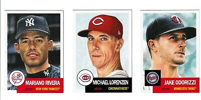 2019 Topps Living Set~Week 46~#136 Rivera~#137 Lorenzen~#138 Jake Odorizzi