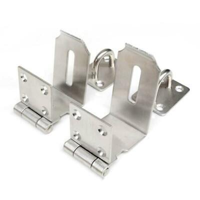 S/M Stainless Steel HASP & STAPLE Padlock Latch HEAVY DUTY Security Door Lock