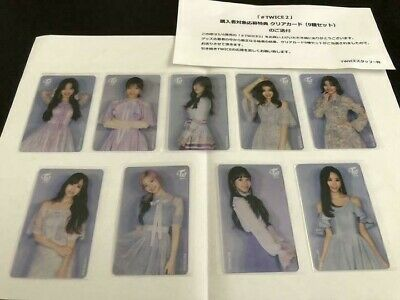 TWICE #TWICE2 Transparent clear card photocard complete 9 set 300 LTD. official