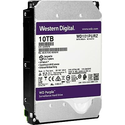 Western Digital 219160 Hdd Wd101purz 10tb Sata 3.5 256mb Av Brand Wd Purple Bare