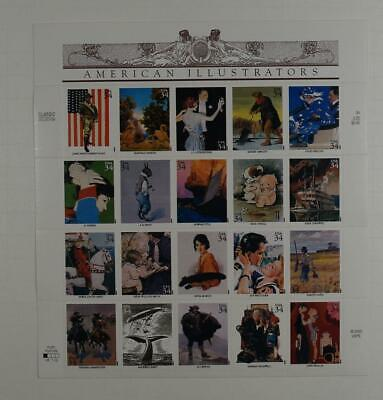Us Scott 3502 Pane Of 20 American Illustrators 34 Cents Face Mnh
