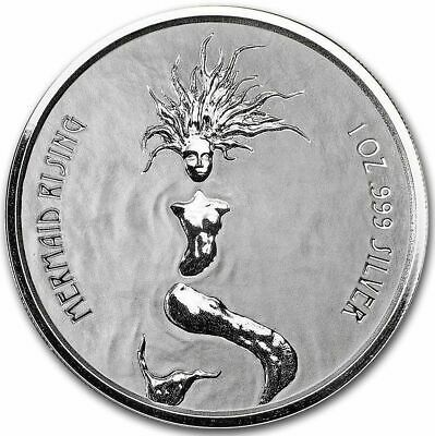 "Fiji   "" Mermaid Rising "" ,1 oz Silbermünze 999/1000 prooflike"