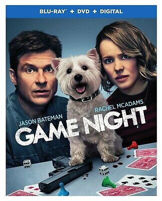 Game Night (Bluray & DVD, 2018, Includes Slipover Cover) Like New