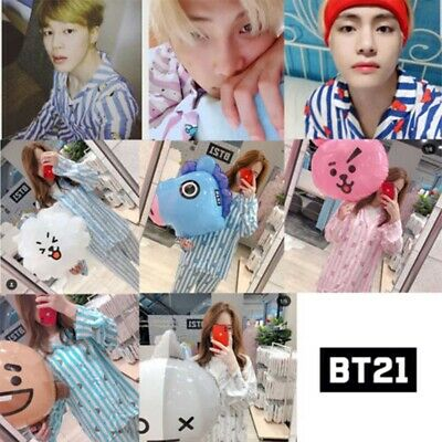 KPOP BT21 TATA CHIMMY COOKY Nightgowns+Pajama Pants Sleepwear Nightwear Lot