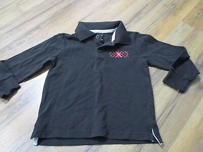 Boys Black Polo Shirt Long Sleeve Collar Size 3T Holiday Editions Christmas