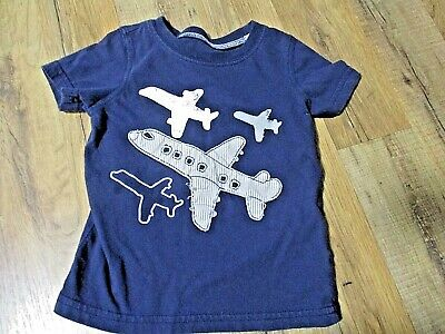 Carter's Baby Boys' Airplane Graphic Tee, 24 Months, Navy Blue, Distressed Look