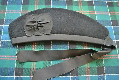 Glengarry Plain black wool  59 cm.