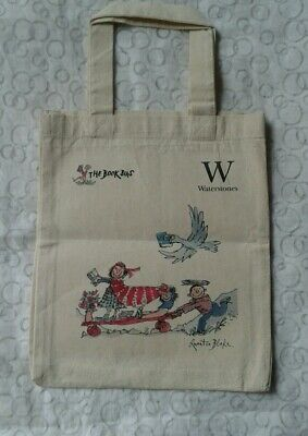 Quentin Blake cotton Tote bag (waterstones) NEW condition