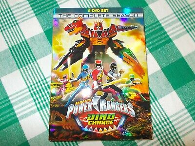Power Rangers Dino Charge- The Complete Season- 5 DVD Set- VG condition