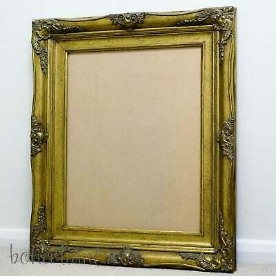 "Ornate Gold Picture Frame 16x20"" Vintage Antique Style Photo Chunky Shabby Chic"