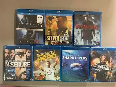 Blu-ray Lot New Free Ship Steven Seagal Ninja 1 2 Dylan Dog NSecure Delta Force