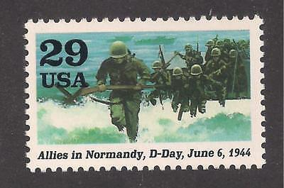 Wwii Normandy Invasion D-Day - June 6, 1944 - U.s. Postage Stamp- Mint Condition