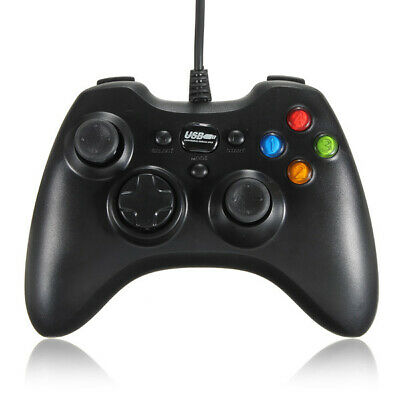 Dual Shock Wired USB Game Controller Joypad for PC