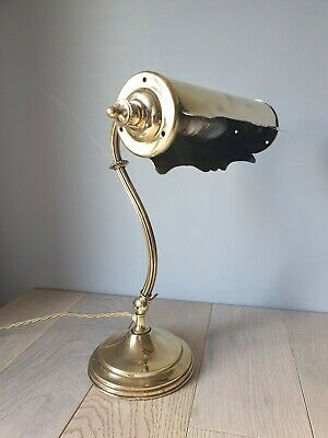 Quality French Brass Piano Desk Lamp, Rewired And PAT Tested