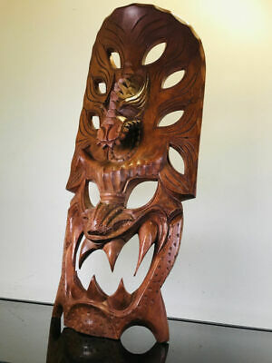 62 cm large finely hand-carved African mask - Wood