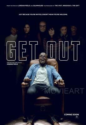 Get Out Horror Poster Film Art A4 A3 Print Cinema Movie #2