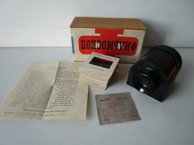 Vintage Russian Slide Viewer with Slides. In Original Box.