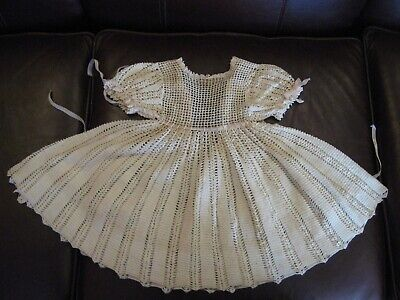 Antique Crochet Baby or Doll Dress