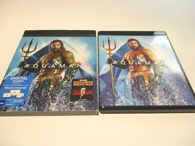 Aquaman (Blu-ray 4K + Case, Slip-Cover, 2018) 1-Disc Never Viewed FAST SHIP