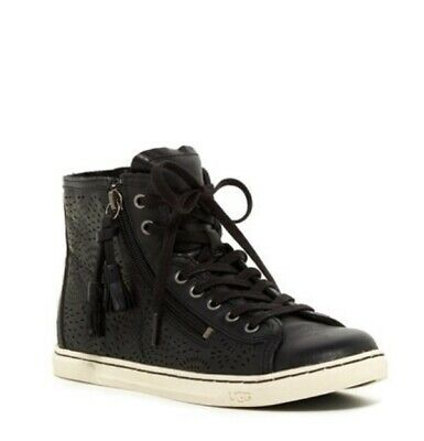 3a4a16a4a5a UGG AUSTRALIA BLANEY High Top Lace Up Tassel Sneakers 1009885 size ...