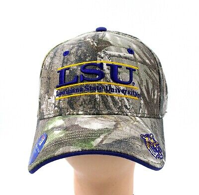 low priced 91739 c0cde Lsu Tigers Camo Purple Gold Stretch Fit Cap Hat Officially Licensed Brand  New